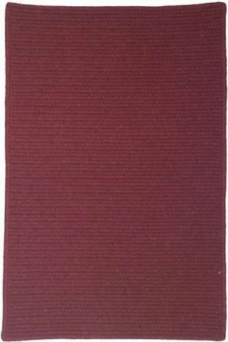 Wilshire Rectangular Braid Texture Area Rug, 7' SQUARE SERGE, CEDAR