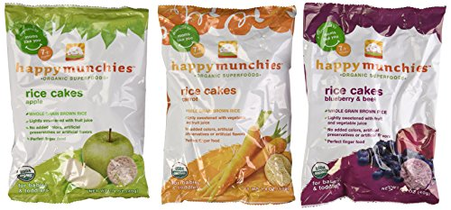 Happy Munchies Organic Superfoods Rice Cakes Variety Pack of 6 (Rice Cakes Variety Pack compare prices)