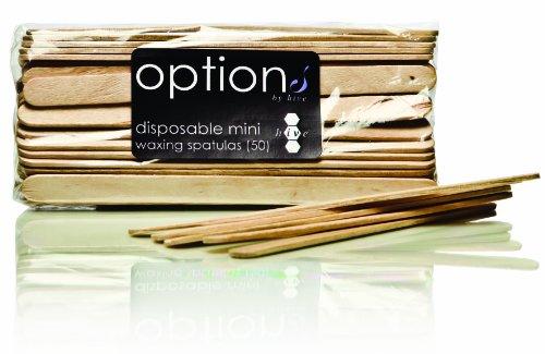 Opzioni Hive monouso Ceretta Spatole Mini - Confezione da 50, 1er Pack (1 x 90 g)
