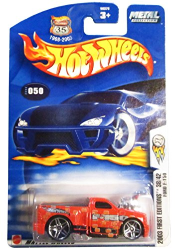 Hot Wheels 2003-050 First Editions 38/42 RED Ford F-150 Highway 35 1:64 Scale - 1