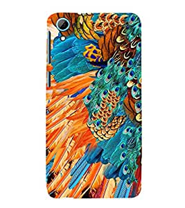 Peacock Feather Abstract Cute Fashion 3D Hard Polycarbonate Designer Back Case Cover for HTC Desire 826 Dual Sim