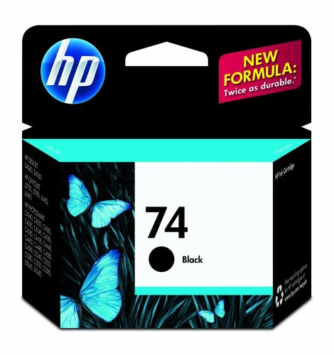 HP 74 Black Ink Cartridge (CB335WN#140)