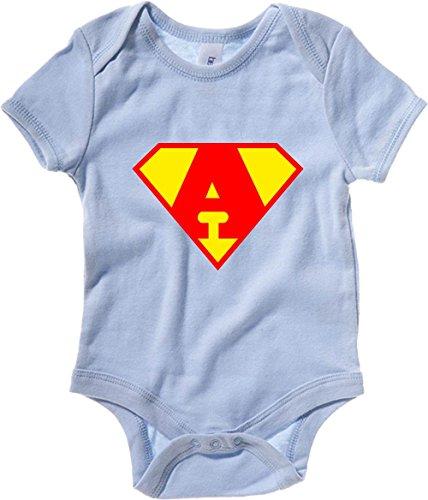 T-Shirtshock - Body neonato T0651 A SUPERMAN fun cool geek, Taglia 3-6mesi