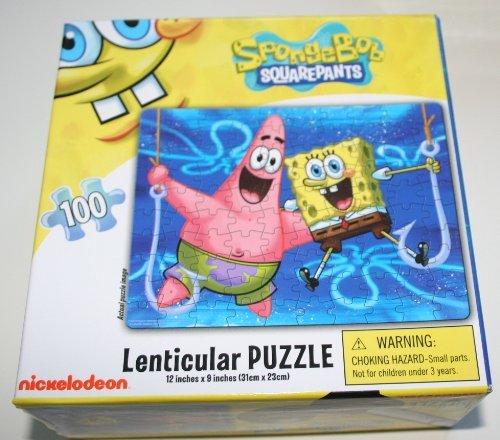 Spongebob Squarepant 100 Piece Lenticular Puzzle - Spongebob & Patrick