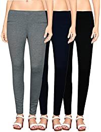 NGT Womens Grey, Navy Blue And Black Color Jegging In Special Quality.