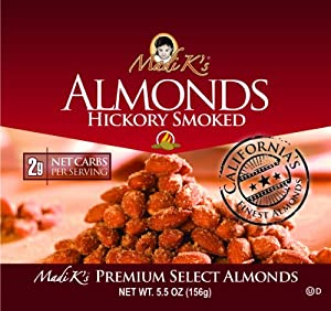Madi Ks Hickory Smoked Almonds 55-ounce Pouches Pack Of 12 from Madi K's