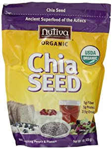 Nutiva Organic Chia Seeds, 12-Ounce Bags (Pack of 2)