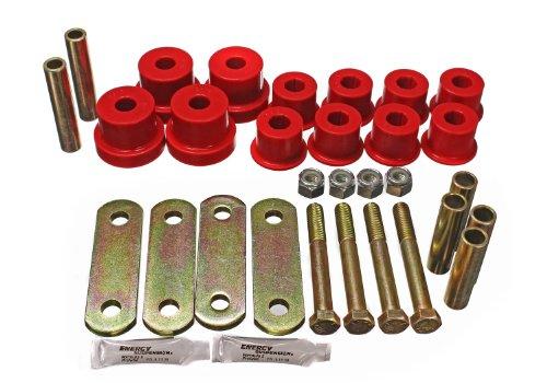 Prothane 1-1013 Red Rear Spring Eye and HD Shackle Bushing Kit