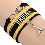 Boston Bruins Bracelet, Boston Bruins Jewelry, Hockey Bracelet, NHL Bracelet & Perfect Hockey Fan Gift