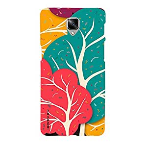 iSweven printed oneplus3_3186 Happy forest by danny Design Multicolored Matte finish Back case cover for OnePlus 3