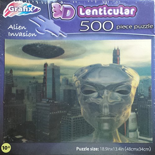 "Grafix 3d Lenticular Puzzle 500pc ""Alien Invasion"""