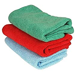 Vheelocityin 71731 Multi Purpose Microfiber Dry Wet Cleaning Polishing Cloth (Set of 3)