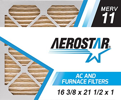 16 3/8x21 1/2x1 Carrier Replacement Filter by Aerostar - MERV 11, Box of 6