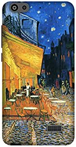 The Racoon Lean Cafe at night - Van Gogh hard plastic printed back case / cover for Huawei Honor 4C