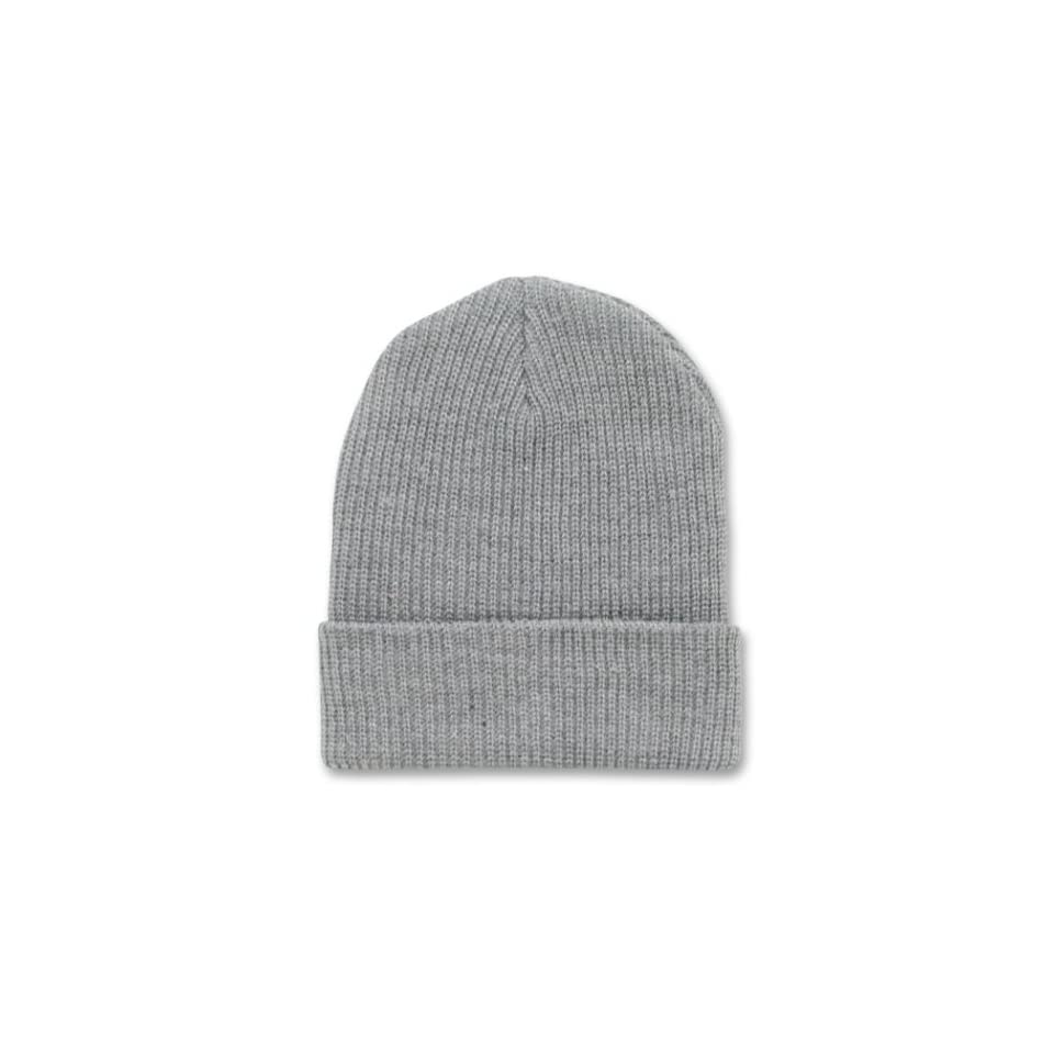 e8627d04f2e GREY LONG WATCH CAP BEANIE SKI CAP CAPS HAT HATS CUFFED on PopScreen