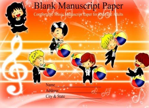 Manuscript Paper For Kids Blank Manuscript Paper