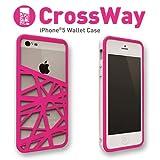 Felix iPhone5/iPhone5s専用ケース Felix CrossWay マネークリップ ホワイト/ピンク FB103-WHPK