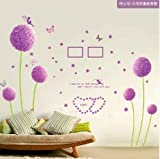 DD2 Dandelion Wall Stick, Romantic Background Wallpaper, Can Removed Wall Poster For Sitting Room, TV Setting Wall, Bedroom, Dining Room (60 cm*90 cm)