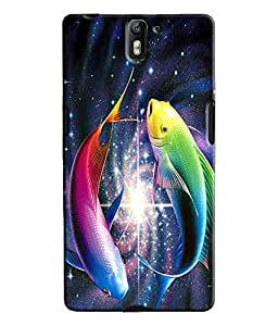 EU4IA Sparkling Fishes Pattern MATTE FINISH 3D Back Cover Case For ONE PLUS O...