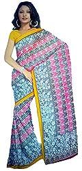 Monash Creations Fusion Ghisa Silk saree with Patli Pallu for Women