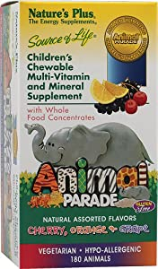 Nature's Plus - Animal Parade Cherry/Orange/Grape, 180 chewable tablets