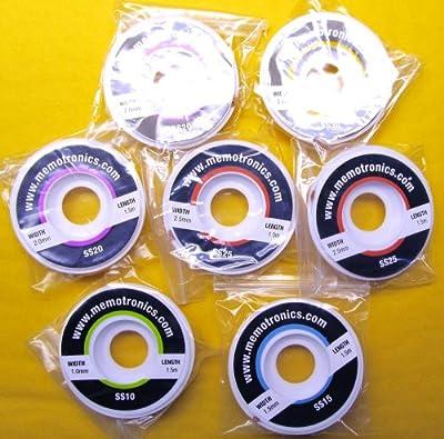 7 x Solder Wick kit: 1.5m (5ft) 1+1.5+2+2+2.5+2.5+3 mm Copper Braid Desoldering