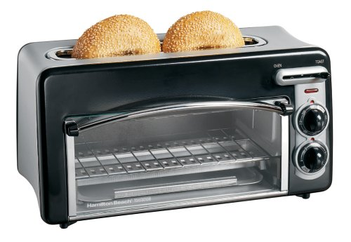 Hamilton Beach 22708 Toastation 2-Slice Toaster and Mini Oven, Black (Small Space Toaster Oven compare prices)