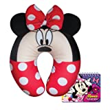 Disney Minnie Mouse Travel Pillow Comfy Plush with Free Autograph Book