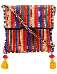 The House Of Tara Boho Chick Crossbody Bag In Handloom Fabric HTCB 044