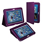 Galaxy Note 10.1 Case, Fosmon OPUS Series Leather Folio Stand Case for Samsung Galaxy Note 10.1 (2013 Edition) - Slim Purple