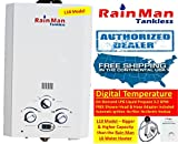 BEST RATED PORTABLE TANKLESS WATER HEATER SHOWER JSD20-10A1-LPG ON-DEMAND LPG GAS 32 GPM DIGITAL TEMPERATURE for RV - Camping - Hunting - Outdoor - Concession - Horse Washing - etc by Rain Man Tankless 2 DAY SALE ONLY