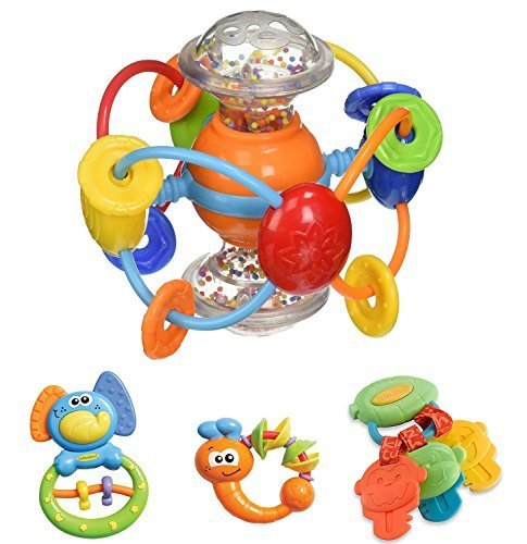 47-OFF-Infantino-Baby-Activity-Toy-Set-Non-toxic-BPA-Phalate-Free-For-children-3-months-Activity-Ball-Elephant-Firefly-Money-Key