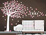 Nursery Large Cherry Blossom Tree with Custom Name Art Decals Wall Sticker Vinyl Wall Decal Stickers Living Room Bed Baby Room 656