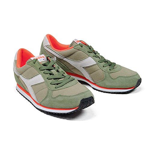 Scarpe Sneaker Uomo DIADORA Modello K RUN C WH Colore Green Rosemary (42 - Green Rosemary)