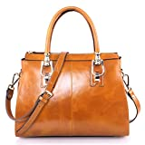 Yafeige Womens/Lady's Handbag Vintage Luxury Wax Genuine Leather Tote...