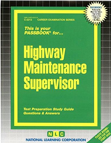 Highway Maintenance Supervisor(Passbooks) (Passbook Series)
