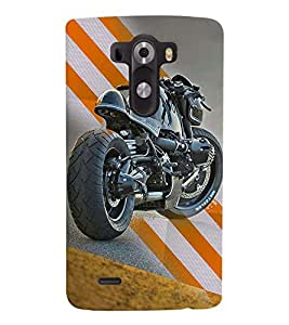 Fuson Premium Ready To Race Printed Hard Plastic Back Case Cover for LG G3