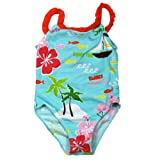 Baby Bunz Cute Flamingoes Toddler Girls 2T, 3T, 4T One Piece Swimsuit Bathing Suit