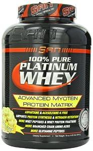 SAN 100% Pure Platinum Whey, Banana Cream, 4.97 Pound