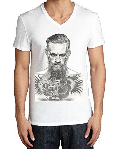 Conor McGregor The Notorious Graphic Portrait V collo maglietta da uomo Large