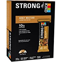 12 Count STRONG & KIND Protein Bars Honey Mustard Savory Snack Bars