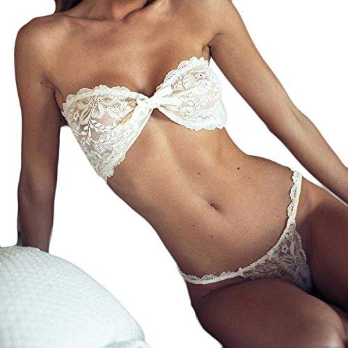 Shiybugou 1 Set Sexy Women Strap Translucent Lace Bowknot Briefs Underwear Underpant (Old Fashion Percolator compare prices)
