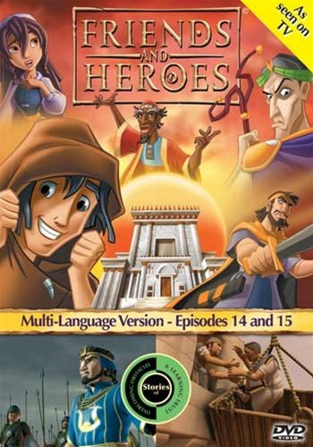 Friends and Heroes Multi-Language Episodes 14 & 15 - Includes Children's Bible Stories Jesus in the Temple As a Boy and Jacob and Esau