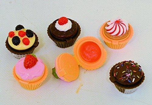 Yummy Mini Cupcakes . Mini Pots de Gloss À Lèvres . Ensemble de 6 Gâteaux / Parfums