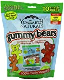 YumEarth Natural Gummy Bears, 10 snack packs (7oz)