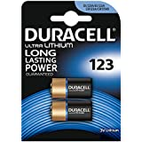 Duracell Ultra Photo DL123 3 V Lithium Batteries - Pack of 2