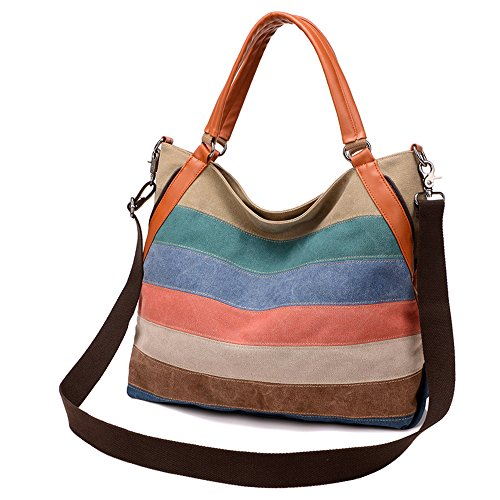 BYD - Mutil Function Female Borse a mano School Bag Shopping Bag Colorful Canvas Borse Tote Bag Borse a spalla