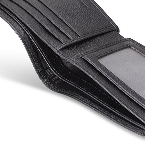 Porsche Bifold Wallet with 3 Credit Card Slots and ID Window – Genuine Leather