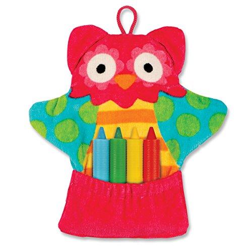 Stephen Joseph Bath Mitt and Crayons Owl, Multi