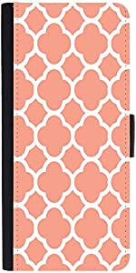 Snoogg Motif Print Pink Graphic Snap On Hard Back Leather + PC Flip Cover One Plus One